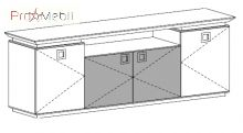 Тумба под ТВ 23-601 кабинет Morion Салита