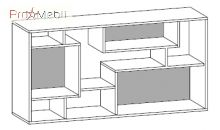 Стеллаж низкий 23-805 кабинет Morion Салита
