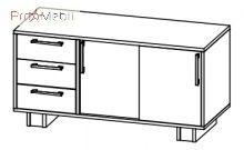 Тумба стационарная 7-210 кабинет Триумф Салита