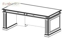 Стол руководителя L1 22-101 кабинет Классик Салита
