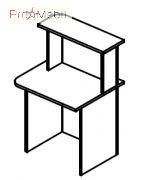 Стол завершающий 6-101 мебель для секретаря Reception Салита