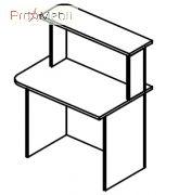 Стол завершающий 6-102 мебель для секретаря Reception Салита