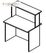 Стол соединяющий 6-107 мебель для секретаря Reception Салита