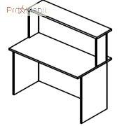 Стол соединяющий 6-108 мебель для секретаря Reception Салита