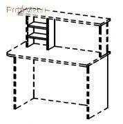 Полка внутренняя 6-113 1L мебель для секретаря Reception Салита