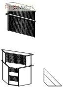 Угловой модуль 6-117 мебель для секретаря Reception Салита