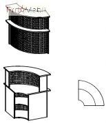 Угловой модуль 6-121 мебель для секретаря Reception Салита