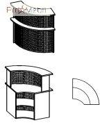 Угловой модуль 6-122 мебель для секретаря Reception Салита