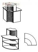 Угловой модуль 6-123 мебель для секретаря Reception Салита