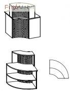 Угловой модуль 6-124 мебель для секретаря Reception Салита