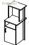 Тумба стационарная 6-135 мебель для секретаря Reception Салита