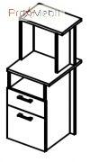 Тумба стационарная 6-136 мебель для секретаря Reception Салита