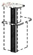 Декор накладка Металл 6-146 мебель для секретаря Reception Салита