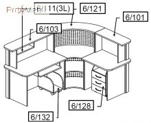 Комплект 1 мебель для секретаря Reception Салита