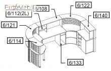 Комплект 2 мебель для секретаря Reception Салита