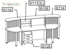 Комплект 8 мебель для секретаря Reception Салита
