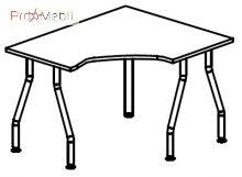 Стол угловой 5-101 офисная мебель Лайт Салита