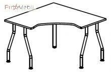 Стол угловой 5-102 офисная мебель Лайт Салита
