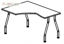 Стол угловой 5-103 офисная мебель Лайт Салита