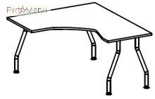 Стол угловой 5-105 офисная мебель Лайт Салита