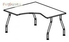 Стол угловой 5-106 офисная мебель Лайт Салита