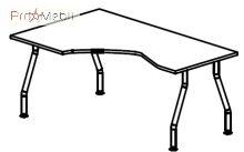 Стол угловой 5-107 офисная мебель Лайт Салита