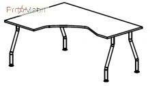 Стол угловой 5-108 офисная мебель Лайт Салита