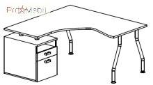 Стол тумбовый 5-113 офисная мебель Лайт Салита