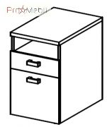 Тумба подставная 5-143 офисная мебель Лайт Салита