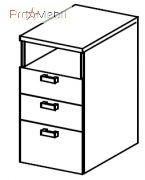 Тумба приставная 5-144 офисная мебель Лайт Салита