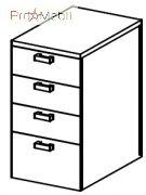 Тумба приставная 5-145 офисная мебель Лайт Салита