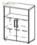 Шкаф 5-203 офисная мебель Лайт Салита