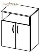 Тумба под оргтехнику 1-135 офисная мебель Эконом Салита