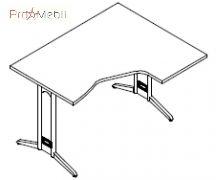 Стол угловой 8-110 офисная мебель Zetta Салита
