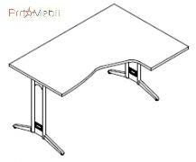 Стол угловой 8-111 офисная мебель Zetta Салита