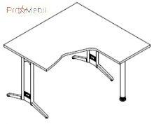 Стол угловой 8-113 офисная мебель Zetta Салита