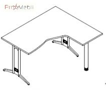 Стол угловой 8-114 офисная мебель Zetta Салита