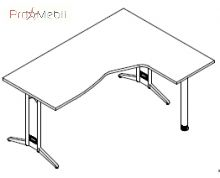 Стол угловой 8-115 офисная мебель Zetta Салита