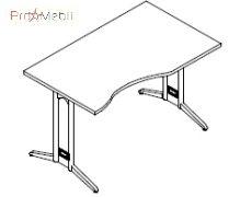 Стол асимметричный 8-116 офисная мебель Zetta Салита