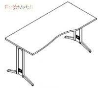 Стол асимметричный 8-118 офисная мебель Zetta Салита