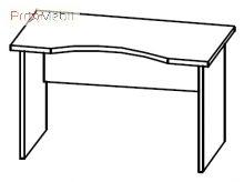 Стол письменный 4-106 офисная мебель Персонал Салита