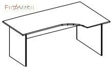 Стол письменный 4-111 офисная мебель Персонал Салита