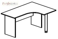 Стол угловой 4-112 офисная мебель Персонал Салита