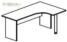 Стол угловой 4-113 офисная мебель Персонал Салита