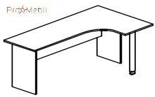 Стол угловой 4-114 офисная мебель Персонал Салита