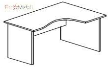 Стол угловой 4-116 офисная мебель Персонал Салита