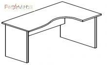 Стол угловой 4-117 офисная мебель Персонал Салита