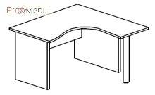 Стол угловой 4-118 офисная мебель Персонал Салита