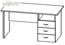 Стол тумбовый 4-124 офисная мебель Персонал Салита