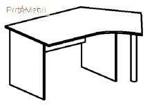 Стол 4-128 офисная мебель Персонал Салита